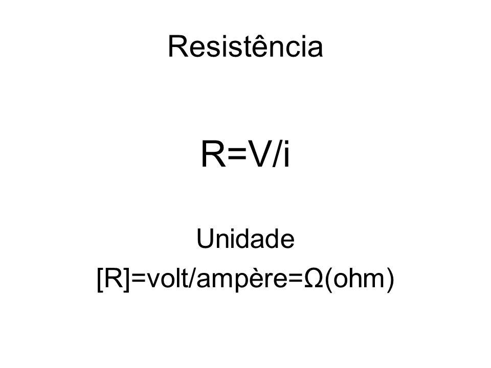[R]=volt/ampère=Ω(ohm)